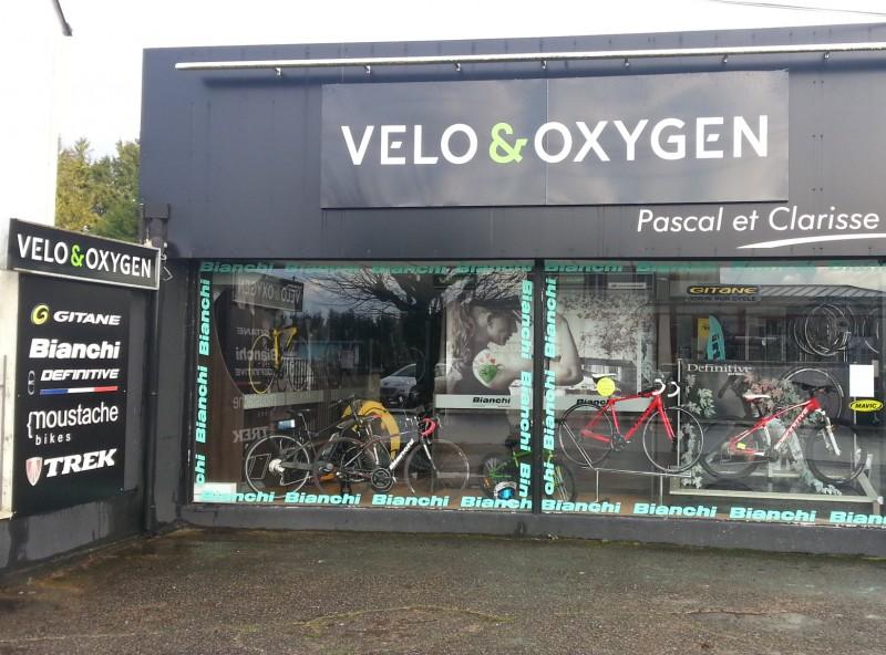 Enseigne Publicitaire Extérieure Vélo & Oxygen