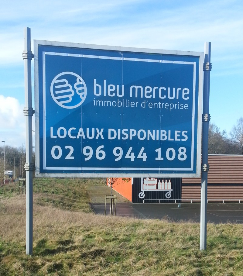 Panneau de Chantier Bleu Mercure