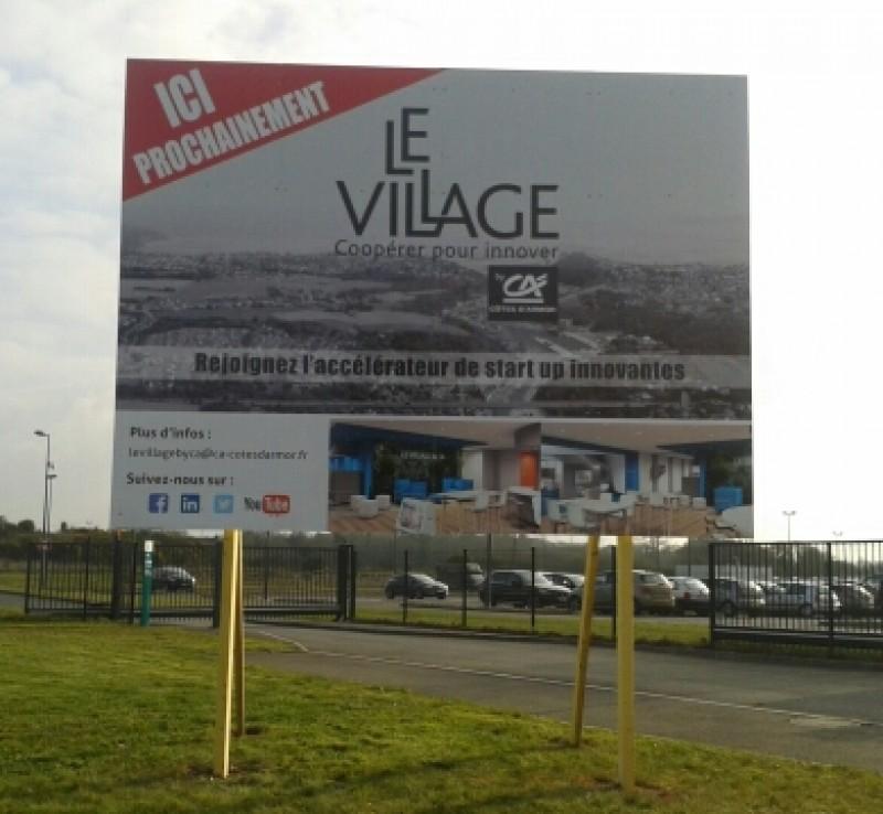 Signal tique b timent panneaux de chantier r alisations for Panneau stand salon