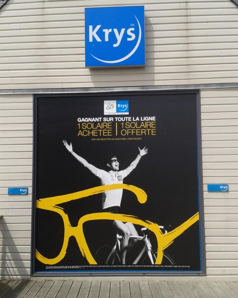Affichage publicitaire temporaire Krys
