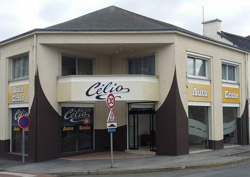Enseigne + décors vitrines pour Auto Ecole CELIO à Loudéac