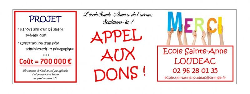 Banderole Ecole Ste Anne Loudéac