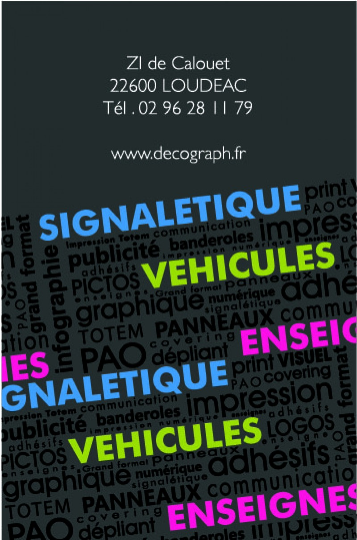 Carte De Visite Decograph Verso