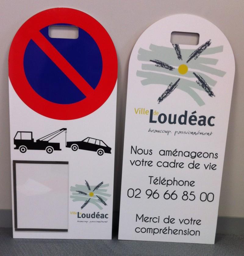 Panneau stationnement pour la ville de Loudéac