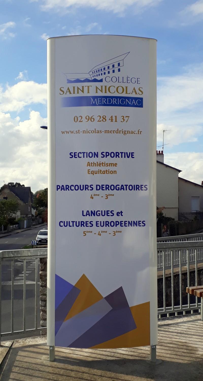 Totem pour le Collège St Nicolas de Merdrignac