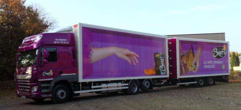 Covering sur tracteur + décors remorques Transports RAULT / Groupe ALTHO BRET'S