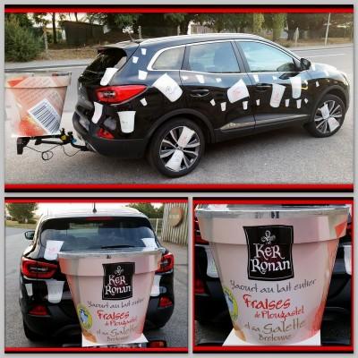 Caravane Publicitaire au Grand Prix de Plouay pour la Laiterie Artisanale Ker Ronan