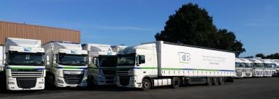 Marquage Signalétique Flotte de Véhicules Transport Centre Bretagne TCB