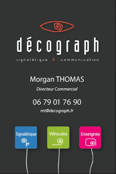 Carte de visite Decograph Recto