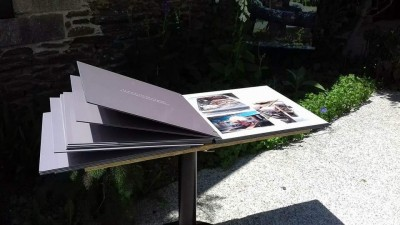 Livre photos panneaux dibond Maison des Toiles à St Thélo